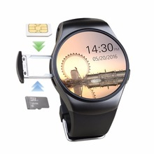 K18 tarjeta sim tf bluetooth smart watch soporte de pantalla completa teléfono smartwatch de ritmo cardíaco para apple gear s2 huawei tracker reloj
