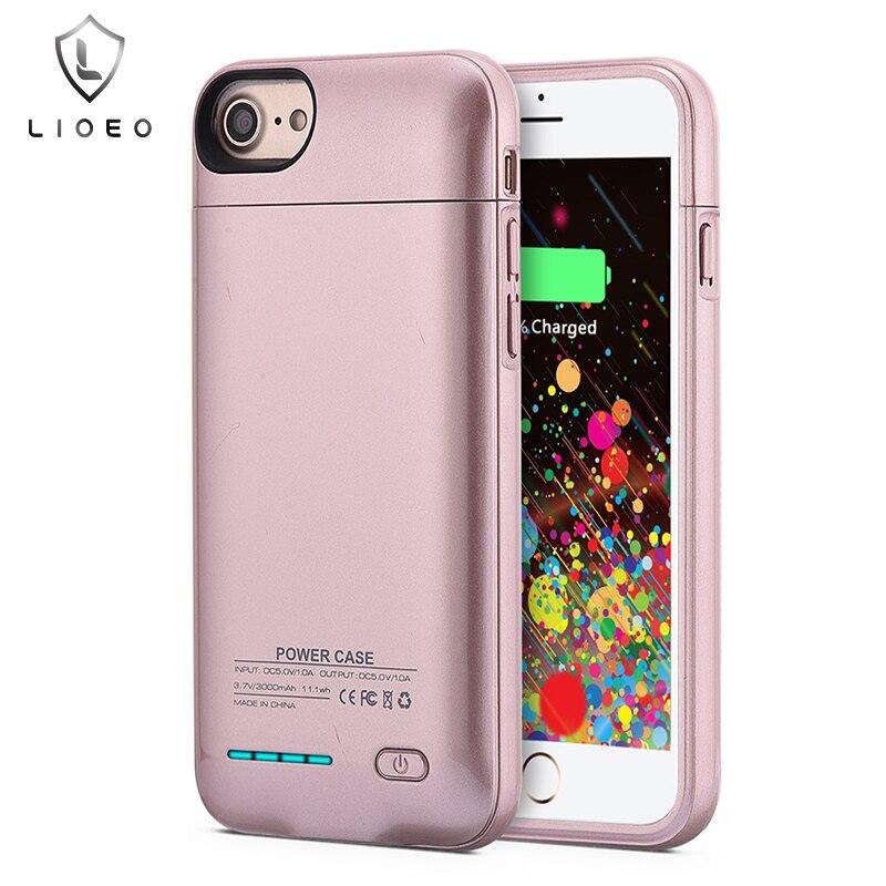 imágenes para Para el iphone 6 6 s 7 Caso Del Cargador de Batería Imán de adsorción soporte del teléfono Para El Iphone 6 6 s iphone 7 Caso de la Energía 3000 mAh