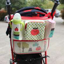 2016 New Cute Multifunctional Stroller organizer bottle cup Baby Carriage Hanging Bag stroller accessories