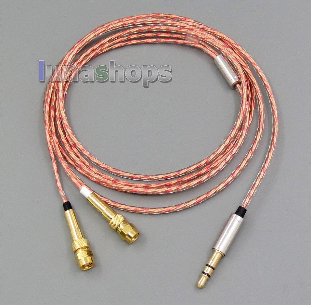 bilder für 3,5mm Weiche OFC Abschirmung Kopfhörer Kabel Für HiFiMan HE400 HE5 HE6 HE300 HE560 HE4 HE500 HE600 Kopfhörer LN005385