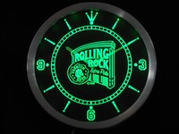 nc0474 Rolling Rock Beer Neon Sign LED Wall Clock