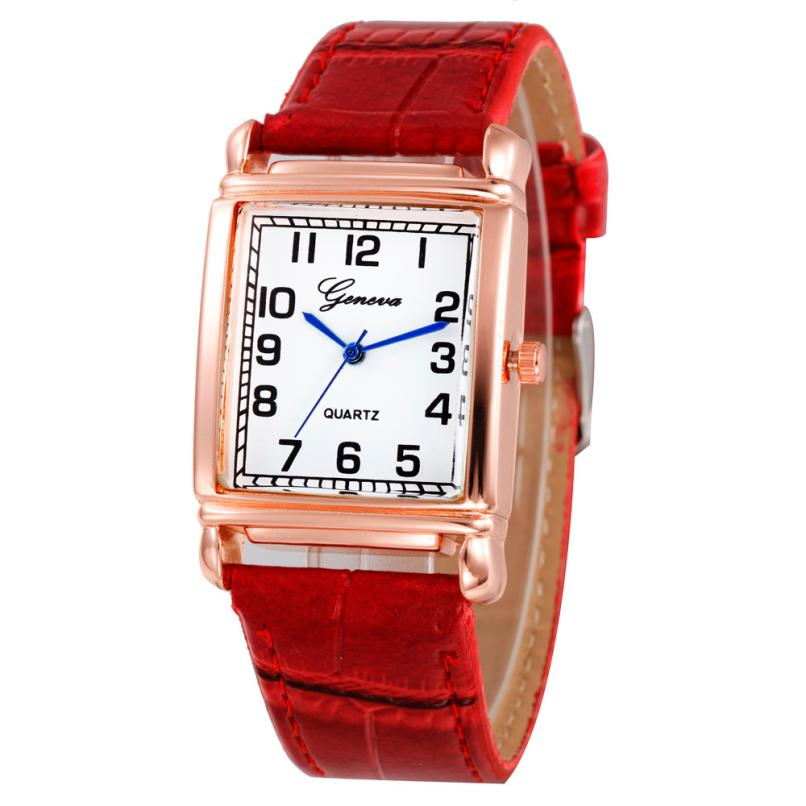 Relogio Checkers Faux Leather Watch Women Luxury Steel Square Dial Quartz Analog Wrist Watches Womens Casual Sports Clock #Ni women casual checkers faux leather quartz analog wrist watch high quality women luxury watch ladies clock reloj mujer hot sale4