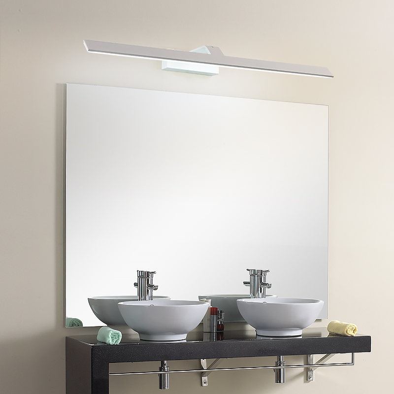 40CM-120CM Mirror Light LED Wall Lamp Mirror lamp Waterproof Anti-fog Brief Modern Cabinet Bathroom Wall Light modern minimalist waterproof antifog aluminum acryl long led mirror light for bathroom cabinet aisle wall lamp 35 48 61cm 1134