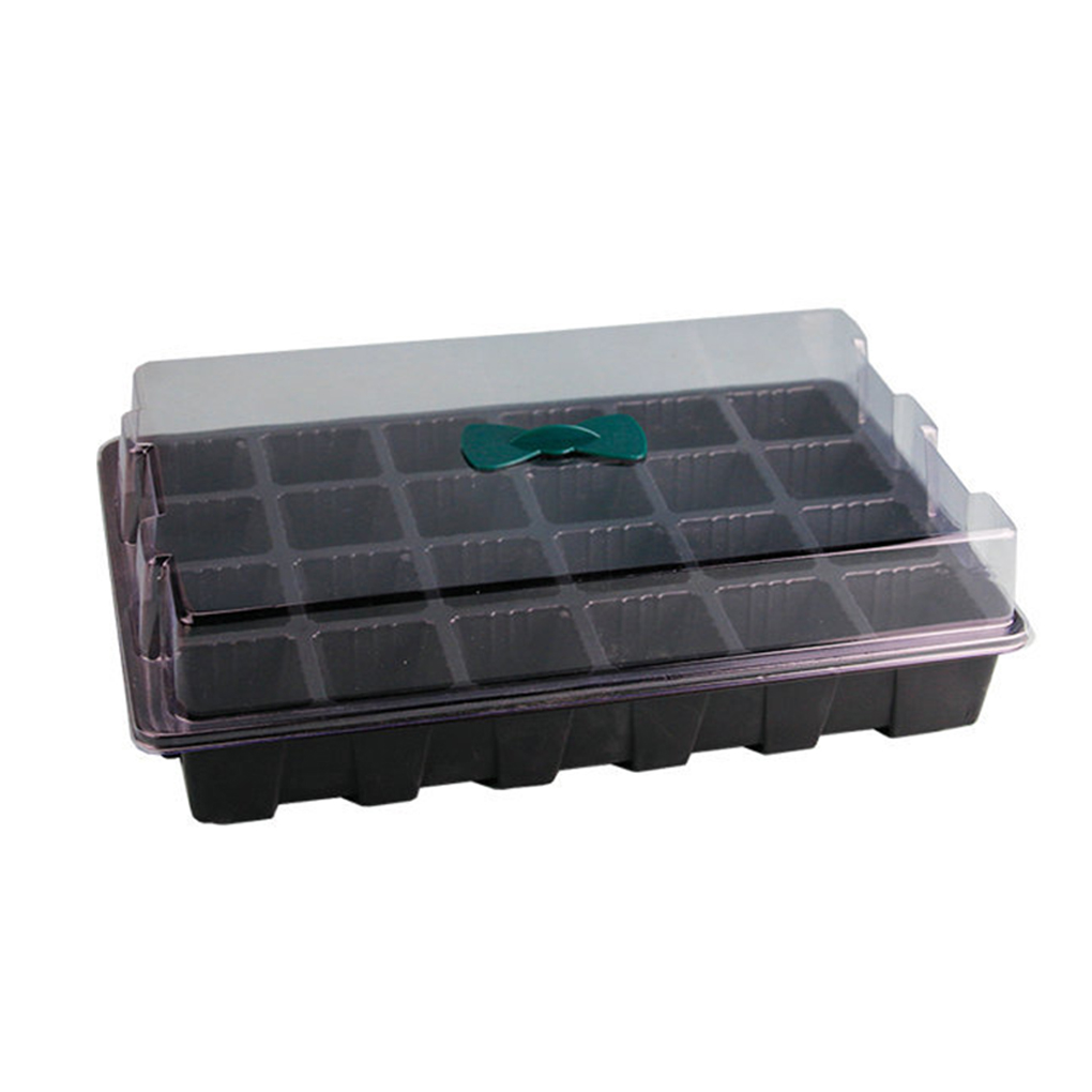 Us 7 73 45 Off 3 Pcs Set 24 Hole Seedling Tray Plant Nursery Pot Air Holes Seeding Box Gardening Supplies In Pots From Home Garden On