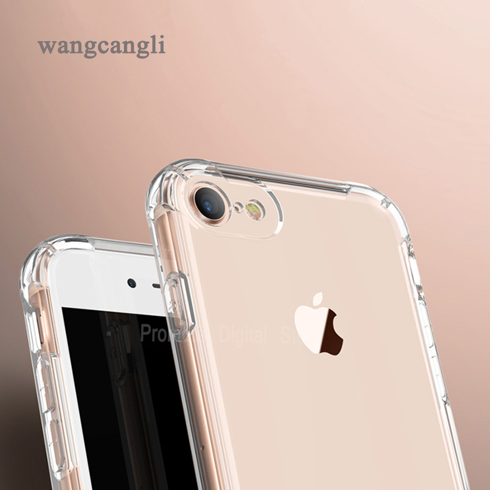 TPU Soft shockproof Transparent case for iphone 5 6 7 8 Clear Silicone Full protective Cover For iPhone 5 5s 6 6s 7 8 Plus Cases