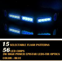 LED 18 Inch Blue Emergency Warning Strobe Lights Flash Directional Roof Top flash Led Light Bar