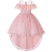 Girl Dress Elegant Lace Children Kids Princess Party Dresses For Girls Birthday Outfits Dresses Girls Evening Party Formal Wear 2017 baby girl dress children kids dresses for girls 3 4 5 6 7 8 year birthday outfits dresses girls evening party formal wear
