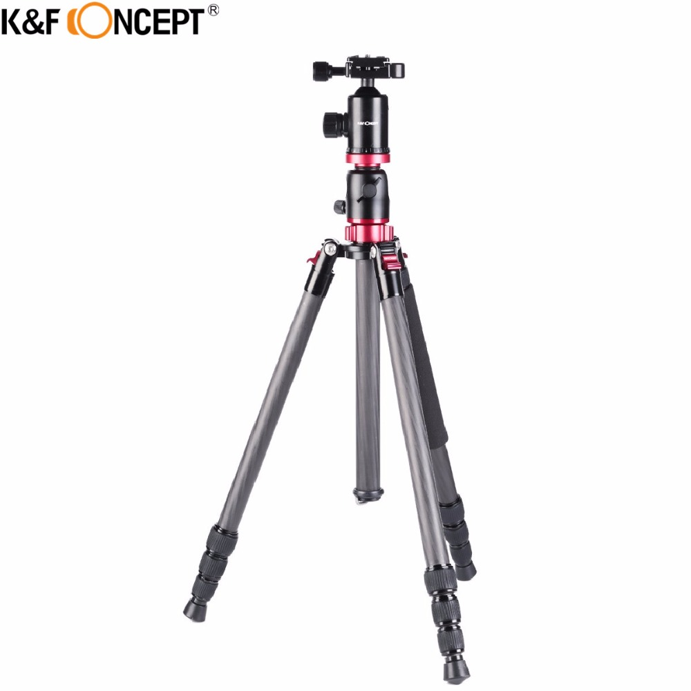 K&F CONCEPT Carbon Fiber Travel 180'foldable Camera Tripod