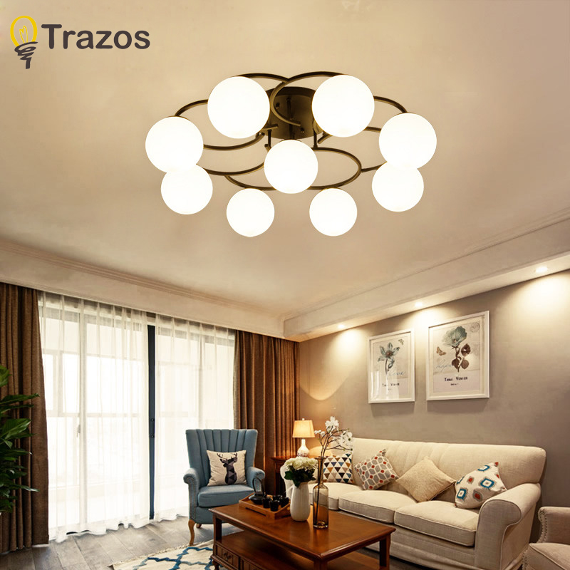 Living Room Dining Room Kitchen Brew Room: Retro Ceiling Light Round LED Ceiling Lamp Modern
