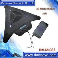 DANNOVO видео микрофон конференц-связи громкоговоритель, 3x микрофоны, функция HiFi, эхоподавление,