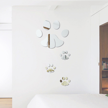 Acrylic Mirror Dog Print Wall Sticker