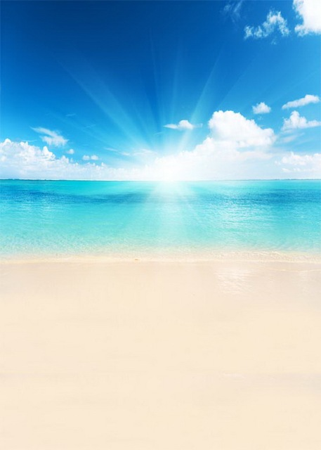 Fotografia On Sea Beach Photo Backdrop Sun Shinning