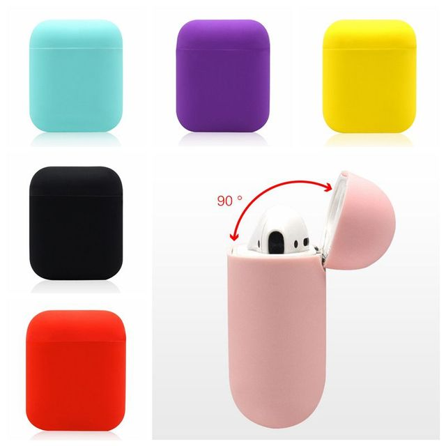Shockproof Silicone Cover Cases For Apple Airpods Waterproof Box For Airpods Case For Air Pods Plain Earhone Cases