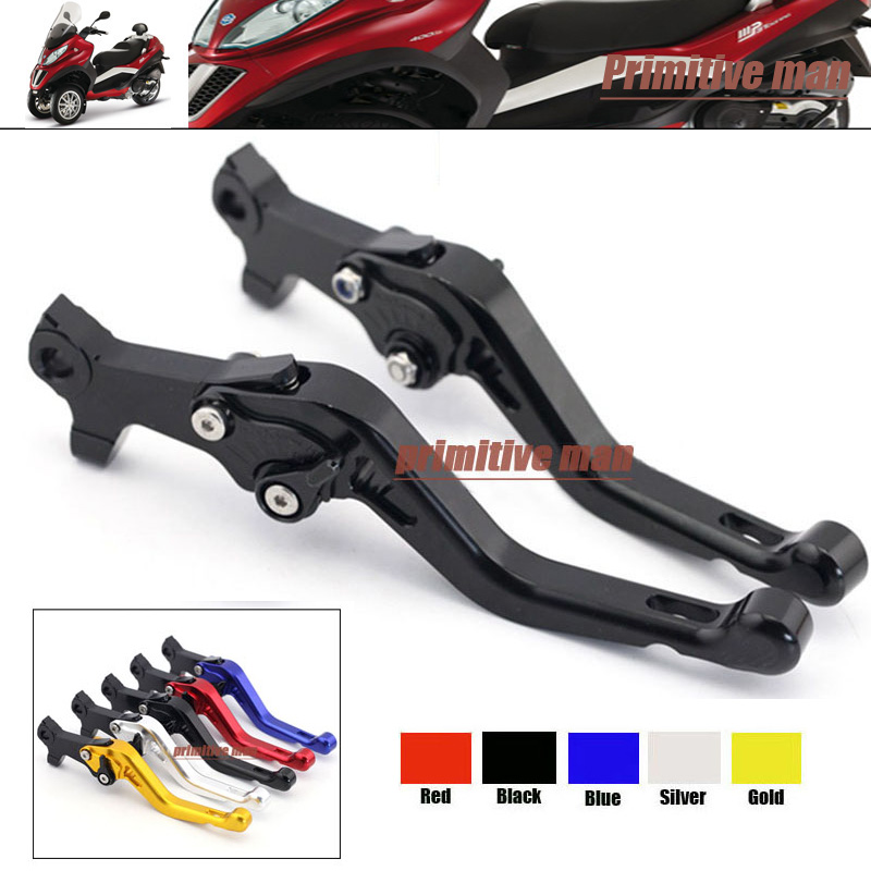 ФОТО For GILERA/PIAGGIO DNA 50/GP Experience/ ICE 50 Aluminum Adjustable Short Left Right Brake Levers Black