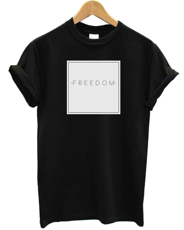 Tự do Hộp Áo Văn Bản Đồ Họa Logo Hipster Surfer Thương Hiệu May Mặc Quần Áo Swag 100% Áo thun cotton, áo Sỉ Tee