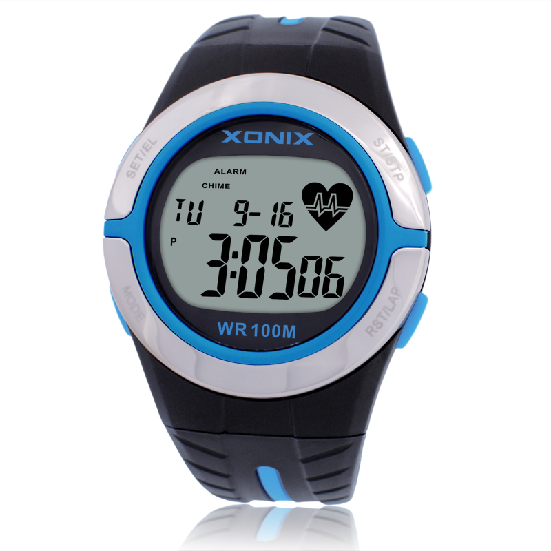New Men Women Heart Rate Calorie Watches Sports Watch HRM Heath Care BMI Uni Running Diving Swim Wristwatch Waterproof 100m