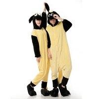 Winter Unicorn Pajamas Adults Sheep Panda Flannel Pajamas Sets Animal Cospaly Sleepwear For Women Men Pyjama