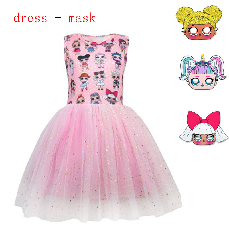 Lol Dolls Baby girl Dresses Summer sleeveless Princess Girls Dress Kids Party Christmas Costumes Children Clothes cos clothing