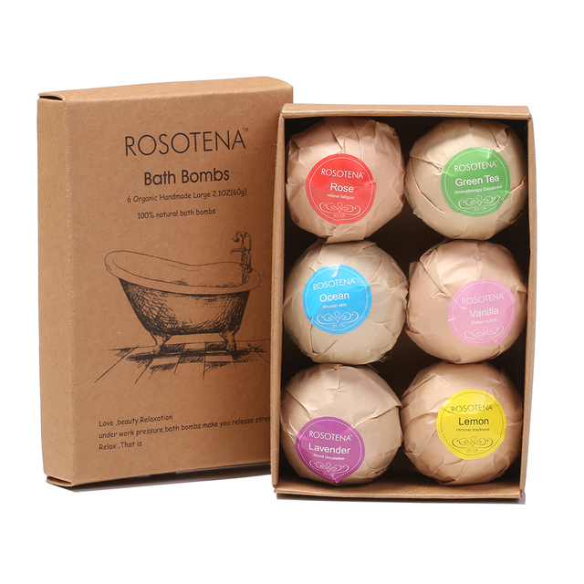 Aliexpress.com : Buy 6x60g Bath Bombs Gift Set Handmade Large Bath ...