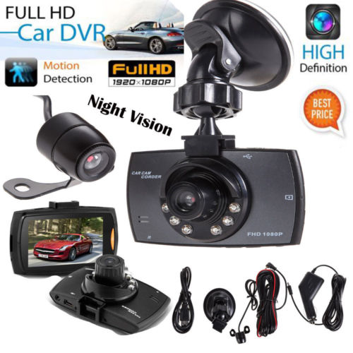 Vehemo Full 1080P 2 7 Dual Lens Car Vehicle Dash font b Camera b font Night