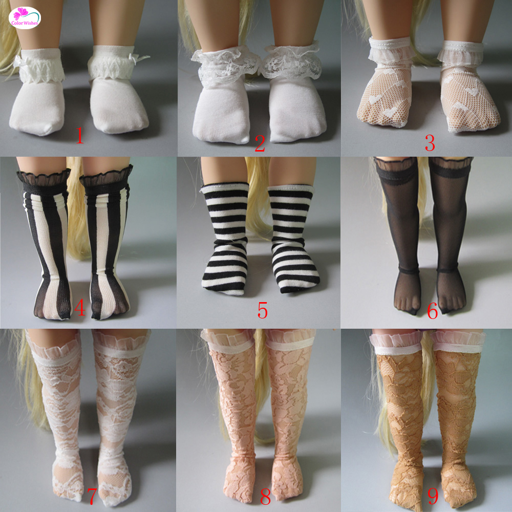 Doll Accessories Variety of multi-color socks for 40cm-43cm zapf baby Salon dolls doll accessories fashion socks variety of multi color for 1 6 1 4 1 3 bjd doll