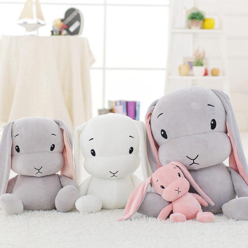 Lucky boy coelho bonito super macio brinquedo de pelúcia do bebê brinquedo de pelúcia brinquedo longo orelhas coelho dormir bonecas para crianças presentes de natal
