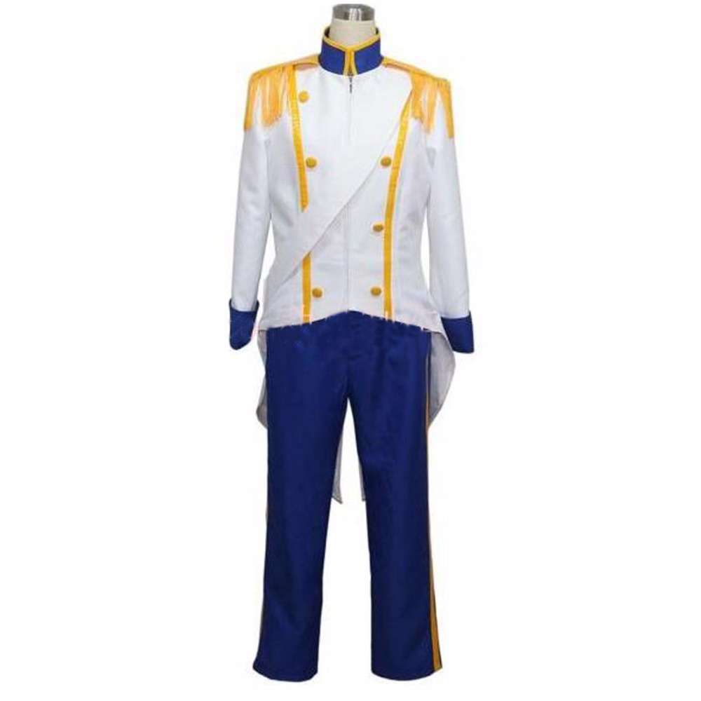 2018 The Little Mermaid Prince Eric Cosplay Costume Tailor made
