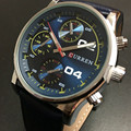 CURREN homens de Negócios de Moda Relógios de Quartzo Relógio de Luxo Militar Relógios De Pulso De Borracha À Prova D' Água Esportes Relogio masculino 8207