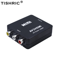 TISHRIC 10Pcs AV2HDMI RCA AV CVBS To HDMI Video Converter Box AV To HDMI Composite Scaler Monitor Adapter For PC Xbox Projecto