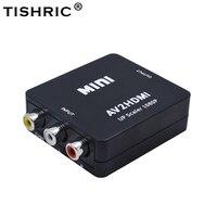 TISHRIC 10Pcs AV2HDMI RCA AV CVBS To HDMI Video Converter Box AV To HDMI Composite Scaler Monitor Adapter For PC Xbox Projecto