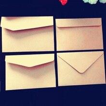 100 teile/los Vintage Blank Kraft papier umschlag Einfache Geschenk Kleine Papier Tasche für Party Messaage Karte Schüler DIY werkzeug