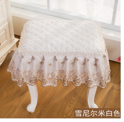 Astonishing Us 14 55 9 Off Classical Lace Square Stool Cover Floral Piano Chair Cover Makeup Stool Cover For Seat Cushion In Chair Cover From Home Garden On Uwap Interior Chair Design Uwaporg