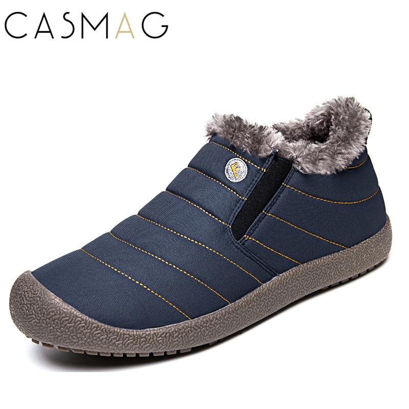 CASMAG Size36 48 Waterproof Women Winter Shoes Couple Unisex Snow Shoes Warm Fur Inside Antiskid Bottom