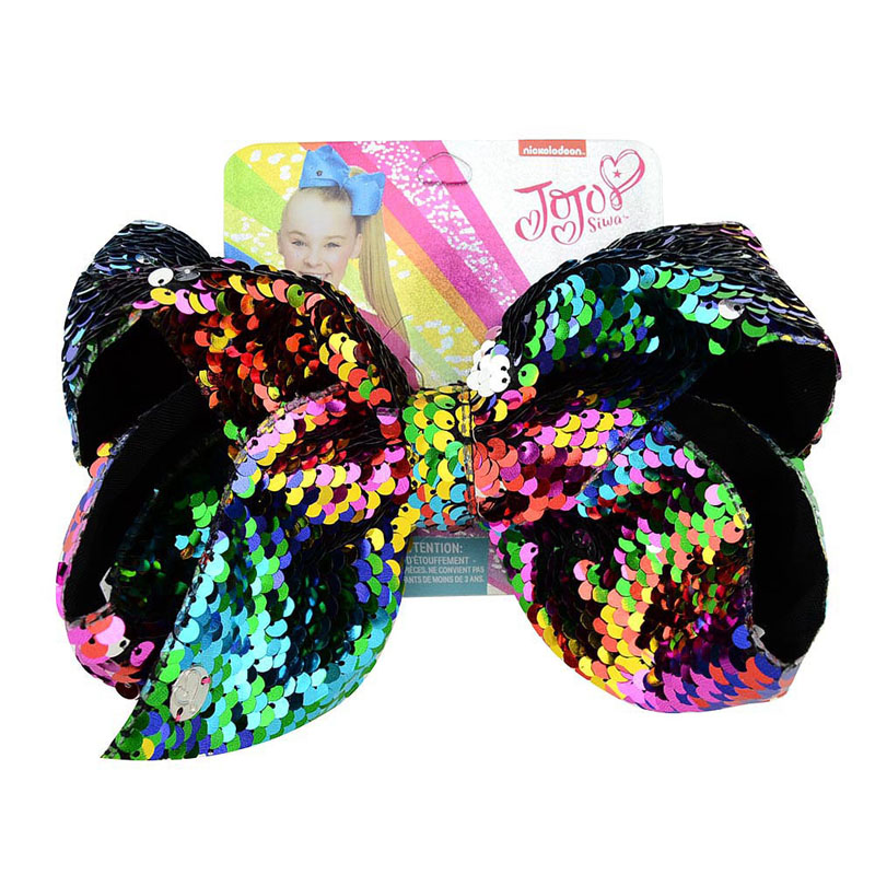 Rainbow Jojo Hair Bow 8 Inch W Clip Kids' Clothing, Shoes & Accs