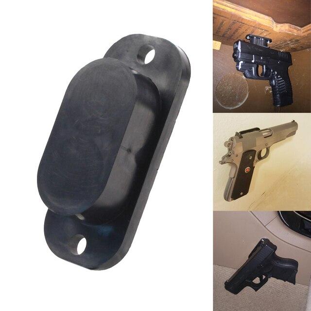 Concealed Magnetic Gun Holder Holster Gun Magnet 25LB Rating for Car Under Table Bedside
