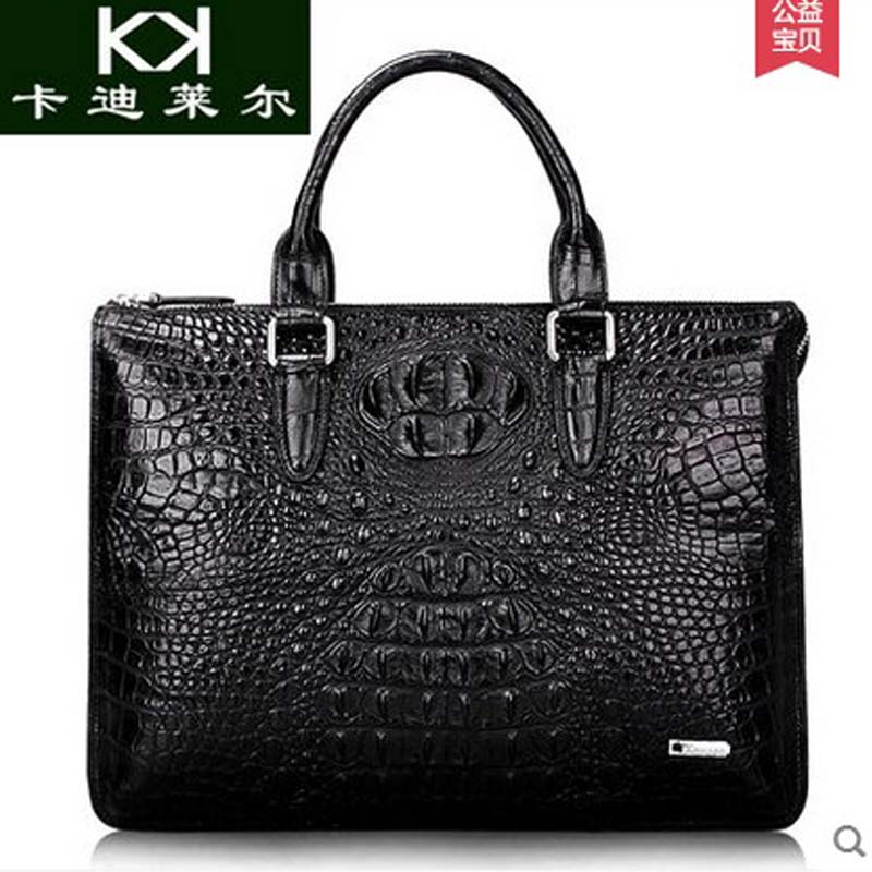 KADILER 2018 hot new free shipping real thai crocodile men handbag  business briefcase  luxury imported leather bag men bag yuanyu 2018 new hot free shipping fashion lady real crocodile skin bag imported caiman leather crocodile grain women handbag
