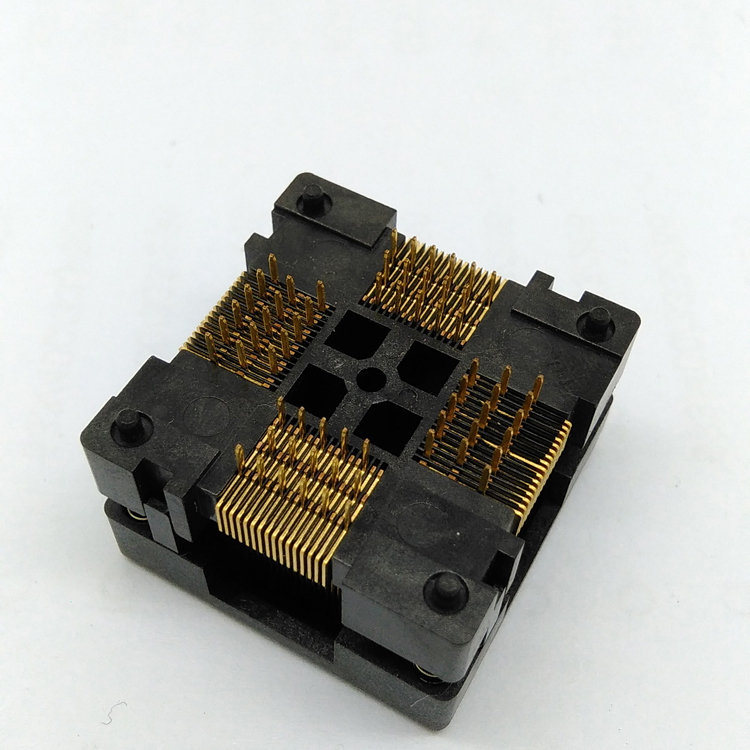 QFP64 TQFP64 LQFP64 Open top Structure Burn in Socket Pitch 0 5mm FPQ 64 0 5 06 Test Flash Programming Adapter in Connectors from Lights Lighting