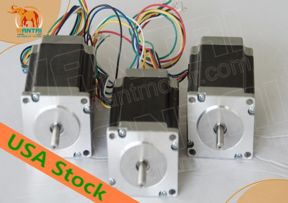 USA Warehouse(3days ship)CNC Wantai 3 Axis Nema 23 Stepper Motor Dual Shaft 57BYGH115-003B 425oz cnc engrave miling mini desktop great cnc wantai 3 axis nema23 stepper motor 57bygh115 003b 425oz dual shaft driver dq542ma 50v 4 2a 128micro