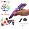 Dr. Memória Atualizada Version1.75mm ABS/PLA Filamento Impressora 3D Pen Com Livre Adaptador de Caneta 3D Criativo Presente para crianças Canetas Impressora