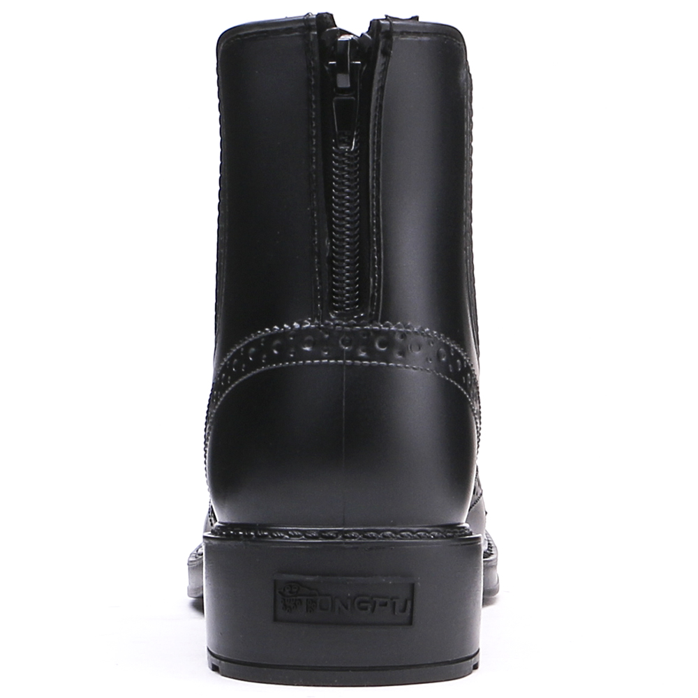 TONGPU Eco-PVC Ankle Boots for Women Rain Boots Waterproof Back Zipper Closure Chelsea 27-136