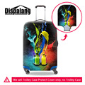 Colorful Art Style Waterproof Travel Luggage Protective Cover 3D Print Elastic Suitcase Protective Cover Apply to 18-30Inch Case