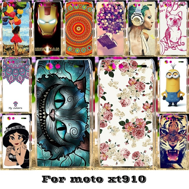 AKABEILA Luxury Painted Phone Skin Cases For Motorola Moto Droid RAZR XT910 XT912 Covers Protective Bags 18 Styles Plastic