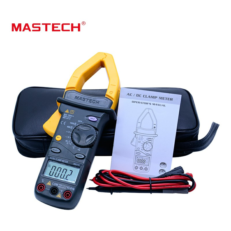 MASTECH MS2101 AC/DC 1000A  Digital Clamp Meter DMM Hz/C clamp meter measured capacitance frequency temperatureMASTECH MS2101 AC/DC 1000A  Digital Clamp Meter DMM Hz/C clamp meter measured capacitance frequency temperature
