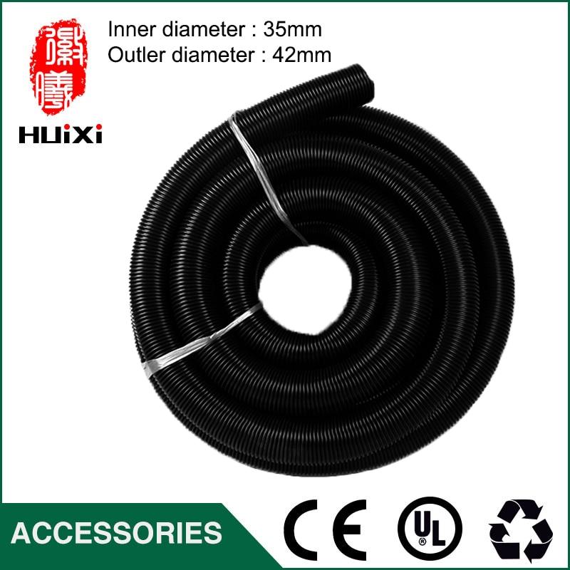 5m inner Diameter 35mm Outer Diameter 42mm Black EVA vacuum cleaner Hose with High Temperature for industrial Vacuum Cleaner