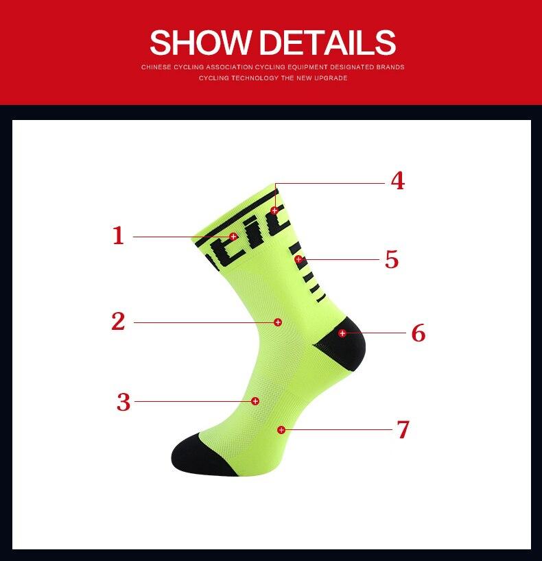 HTB1Y7xngpuWBuNjSszbq6AS7FXaM - Santic Sport Cycling Socks Breathable Anti-sweat Basketball Socks Running Hiking Men Socks