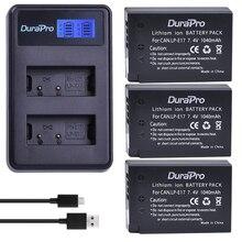 DuraPro 3Pcs 1040mAh LP-E17 LPE17 LP E17 Battery + LCD USB Charger for Canon EOS Rebel T6i 750D T6s 760D M3 800D 8000D Kiss X8i