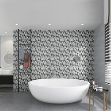 HomeyStyle 12 Inch Marble Ceiling Peel and Stick Wall Sticker 3D Mirror Self Adhesive Mosaic Panel for Bathroom 4 PCS A Lot