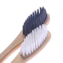 2 шт. бамбуковая зубная щетка экологический портативный очиститель языка гигиена полости рта уход мягкая щетина Деревянные Зубные щетки