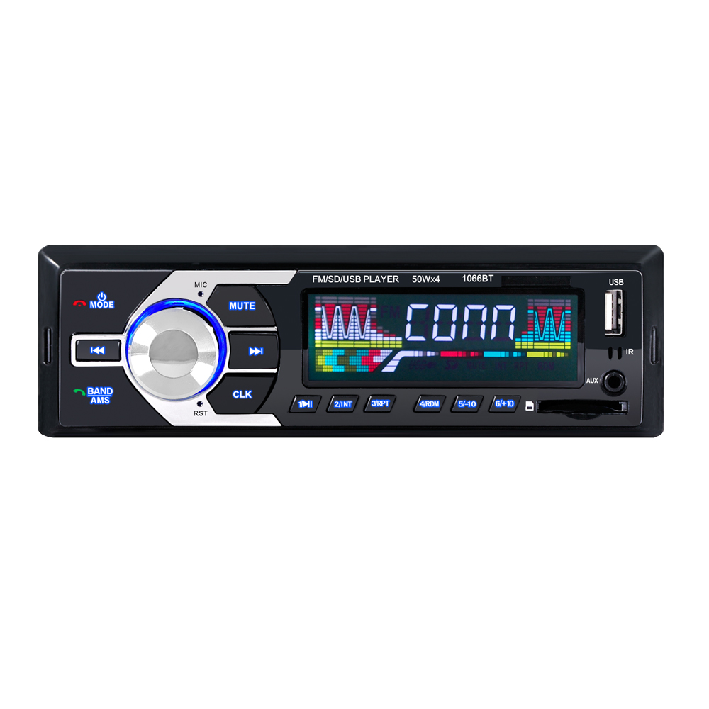 Ouchuangbo voiture mp3 lecteur multimédia support BT aux USB FM Radio Tuner SD AUX mains libres avec Microphone téléphone Mobile Cha