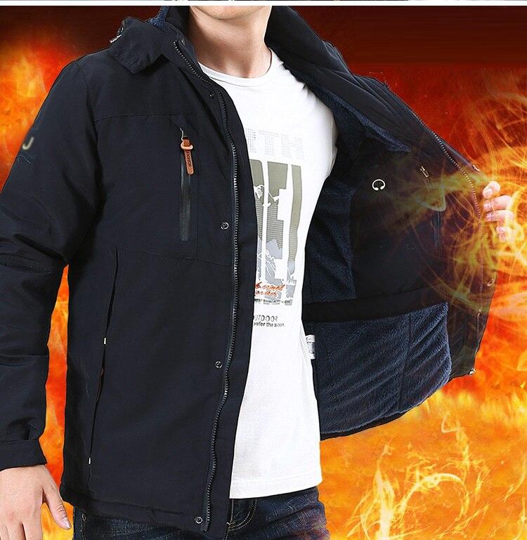 2018 แฟชั่นผู้ชายฤดูหนาวเสื้อแจ็คเก็ตแจ็คเก็ตเสื้อแขนยาวขาตั้งคอปกอบอุ่นขนแกะลมน้ำหลักฐาน hooded coat casual plus เสื้อผ้า-ใน แจ็กเก็ต จาก เสื้อผ้าผู้ชาย บน AliExpress - 11.11_สิบเอ็ด สิบเอ็ดวันคนโสด 1